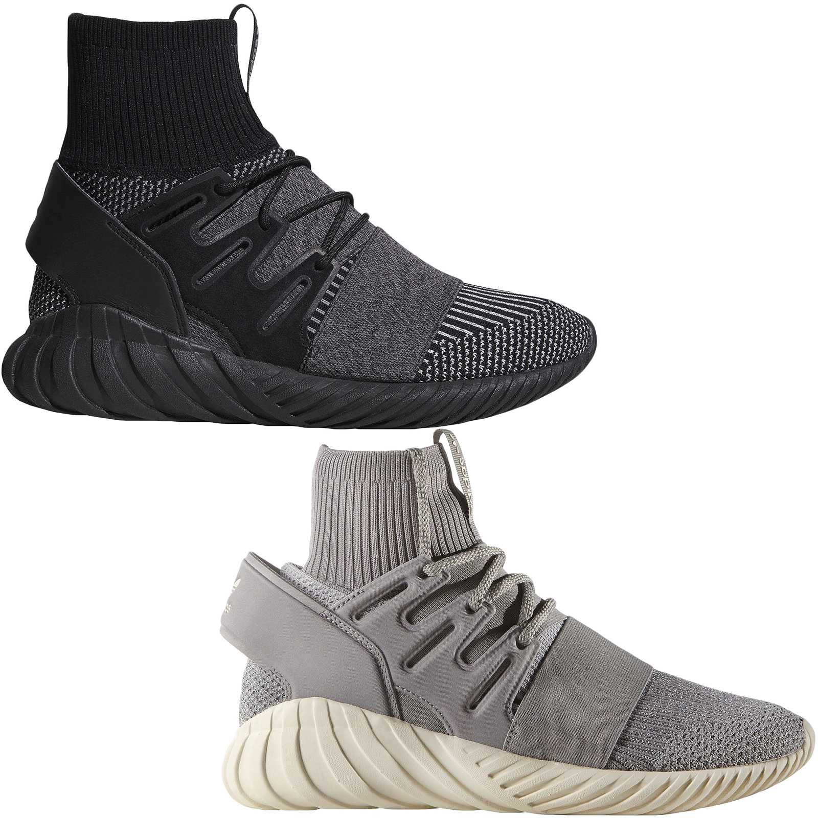 1eec0834c4e6 adidas Originals Mens Tubular Doom Primeknit Ankle Sock Lace Up Sports  Trainers