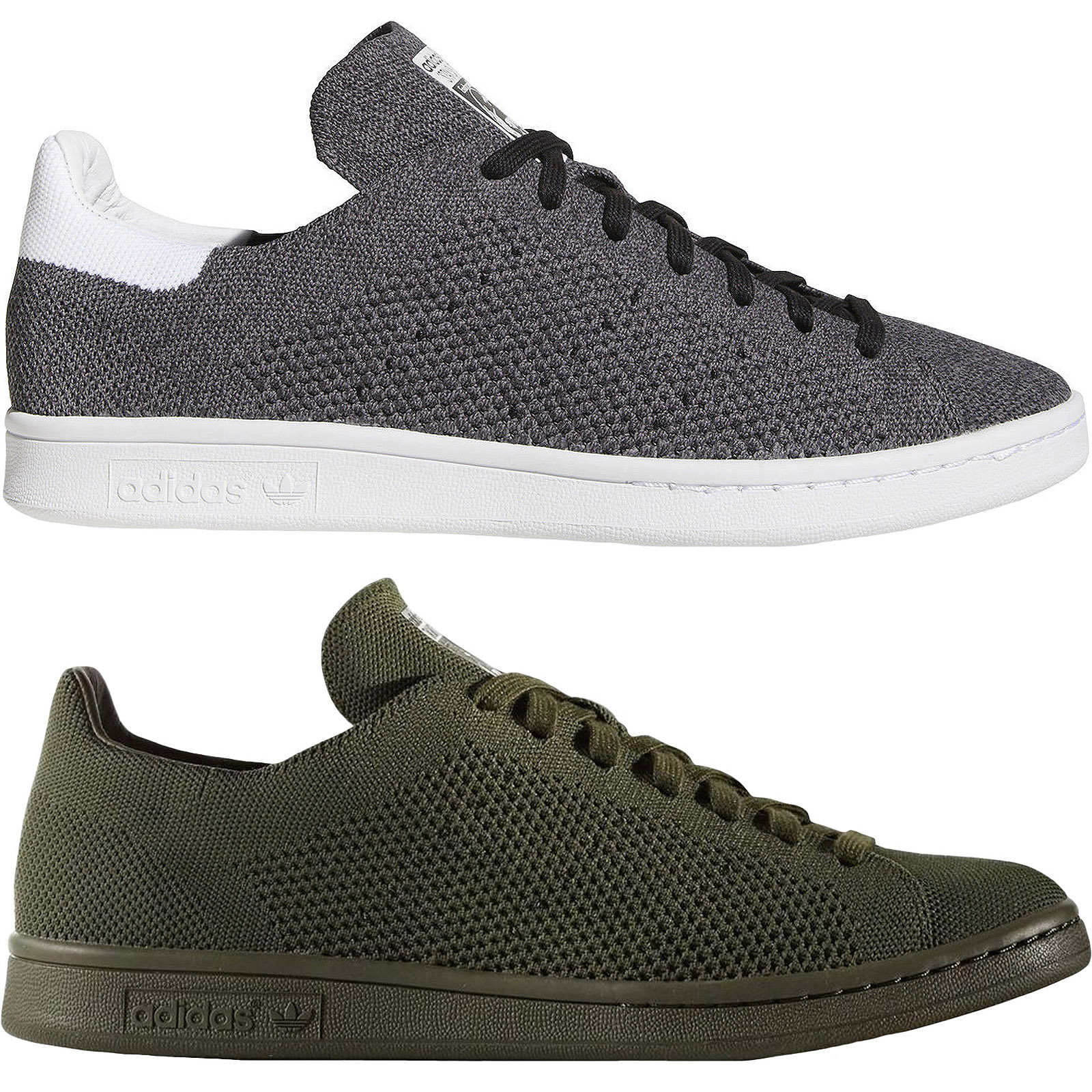 Details about adidas Originals Mens Stan Smith Primeknit Lace Up Casual Trainers Sneakers
