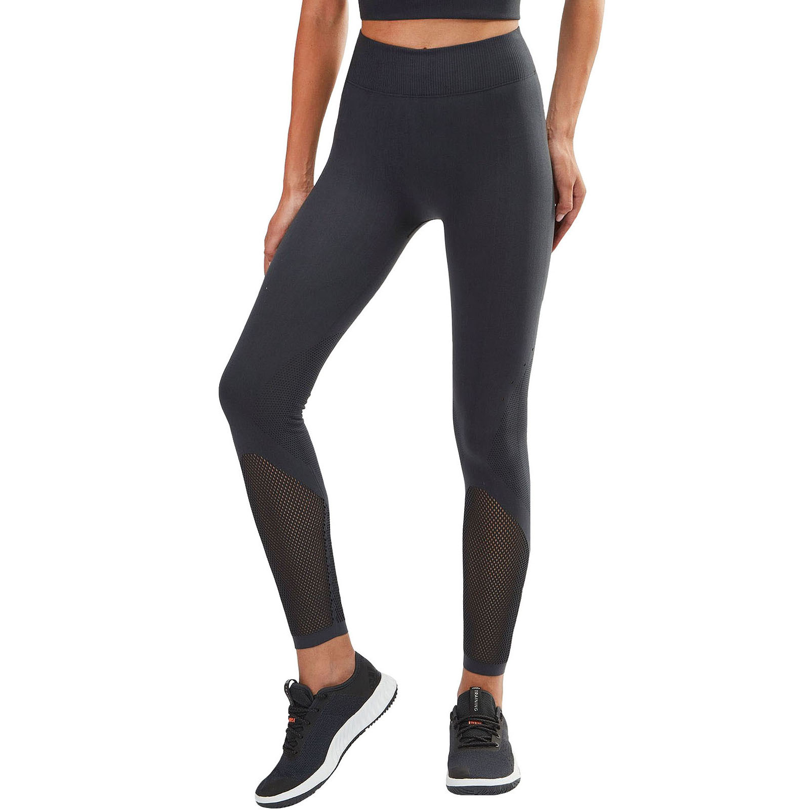 5425776f69c84 Details about adidas Performance Womens Warp Knit Full Length Climacool Gym  Tight Leggings - L