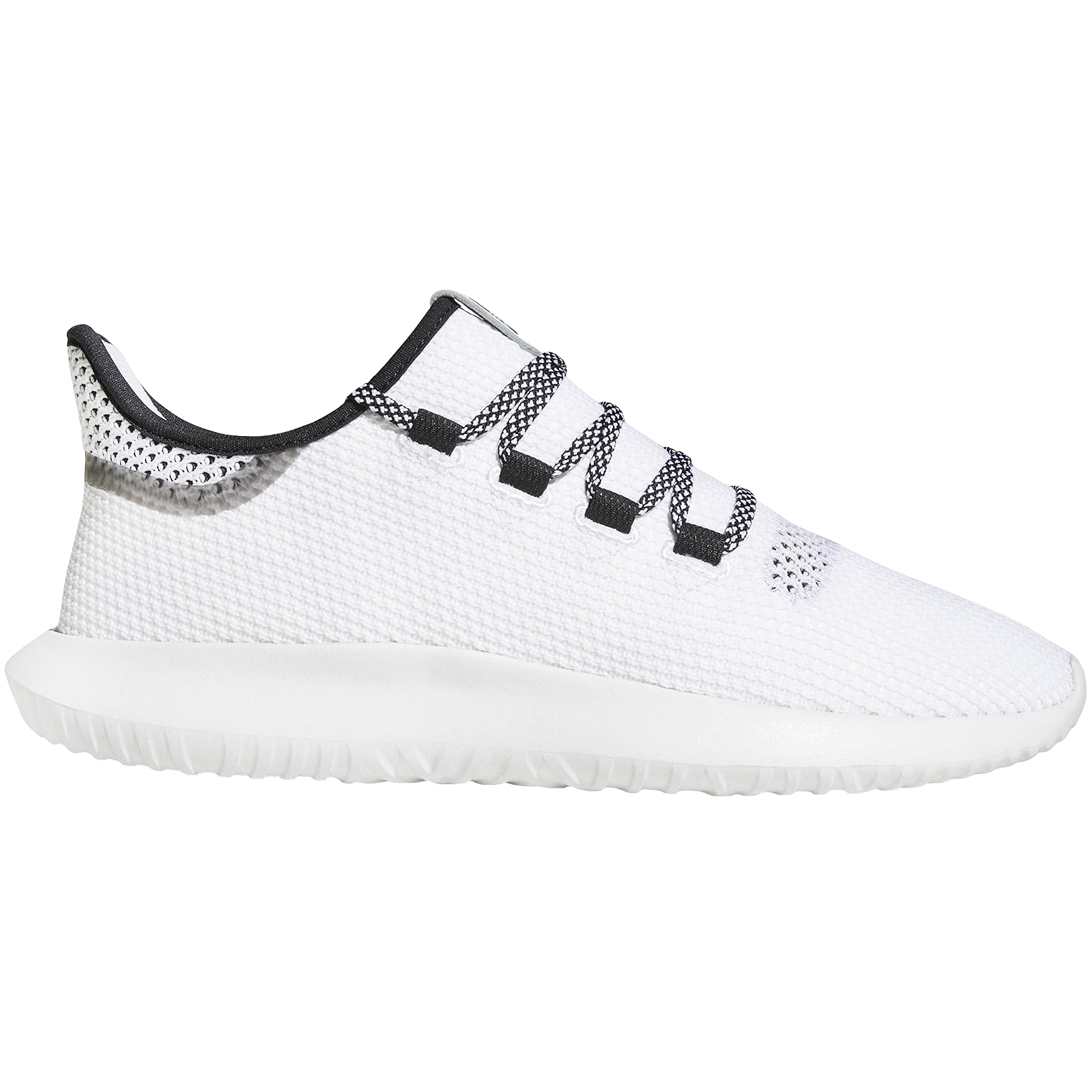 10d330c35111 Details about adidas Originals Mens Tubular Shadow CK Lace Up Casual Knit Trainers  Shoes-White