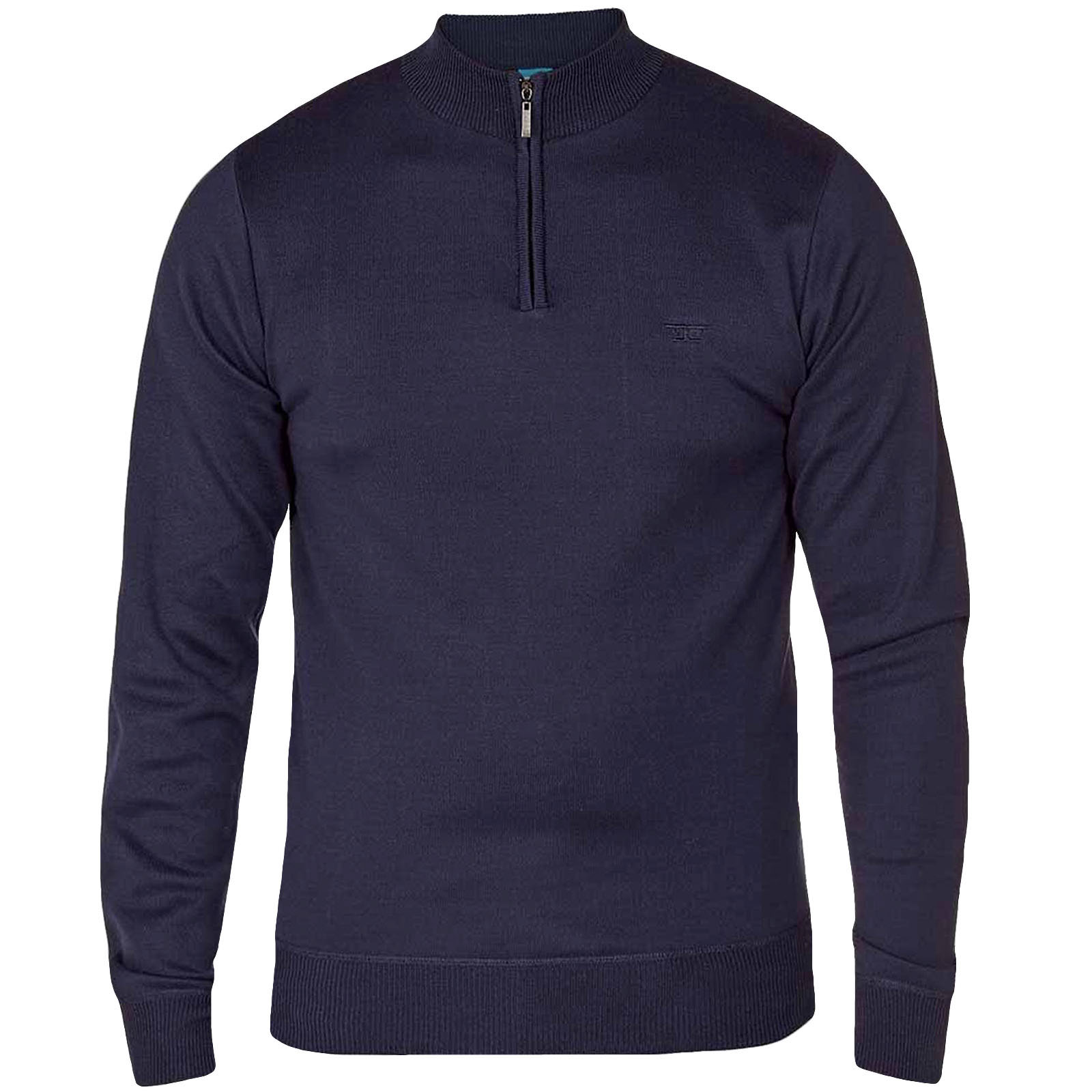 Duke Duke Duke D555 Homme Dexter Plain 1/4 Zip Neck Pullover Sweater Jumper Top ae3782