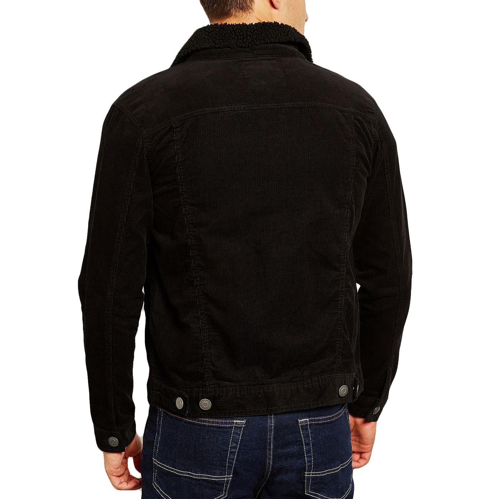Brave-Soul-Homme-Prestwich-a-manches-longues-velours-boutonne-Casual-Demin-Veste-Manteau miniature 5