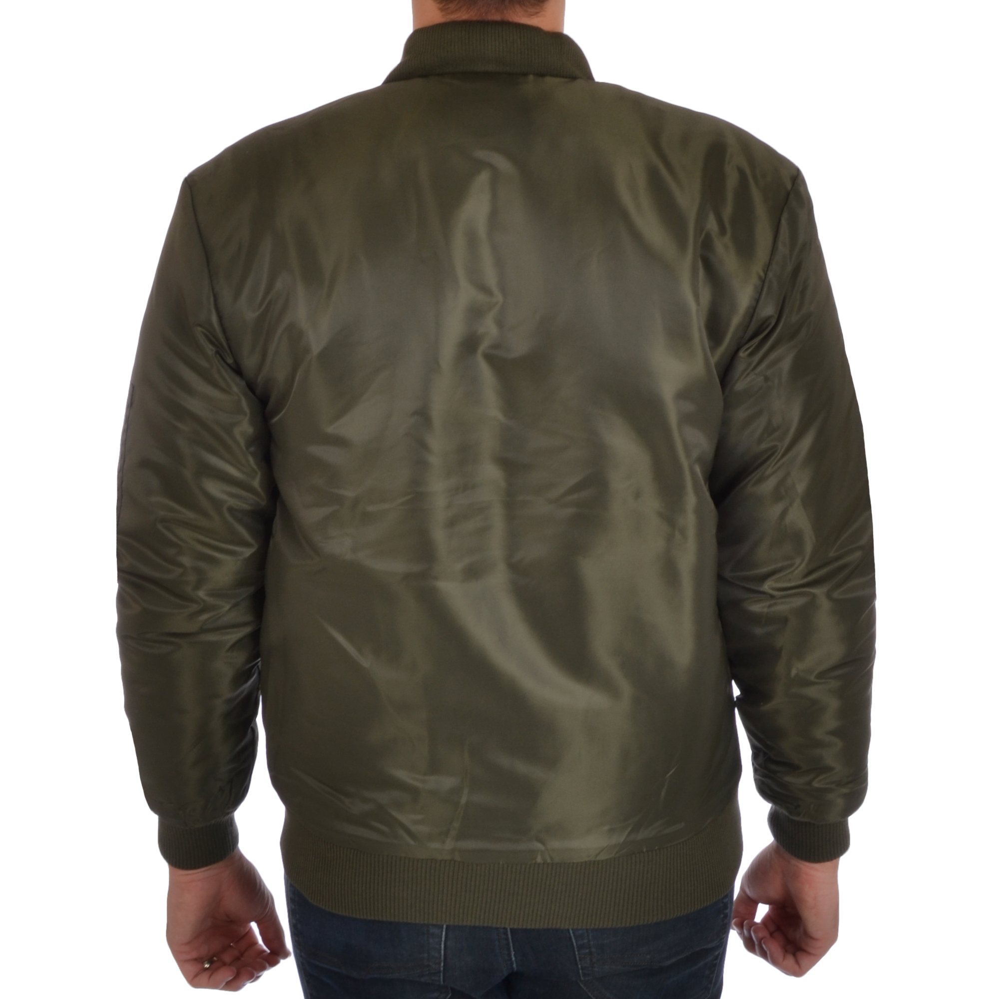 Soul Star Mens MA1 Padded Bomber Jacket Military Flight Coat | eBay