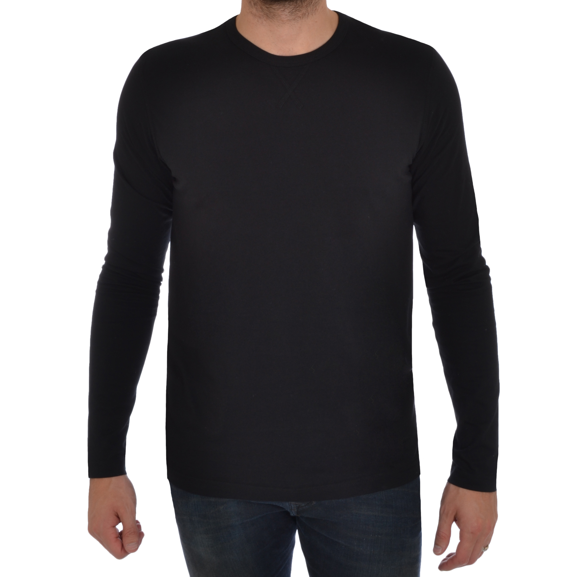 Brave soul mens long sleeve t shirt plain crew neck casual for Mens long sleeve t shirts sale