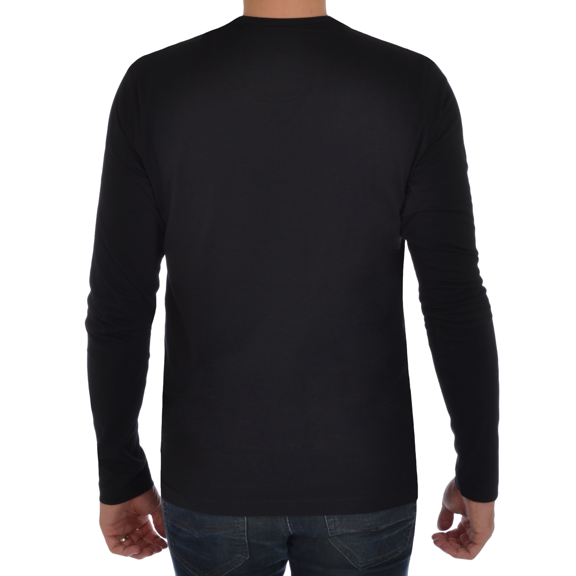 Brave Soul Mens Long Sleeve T-Shirt Plain Crew Neck Casual Top  5b1ee861015