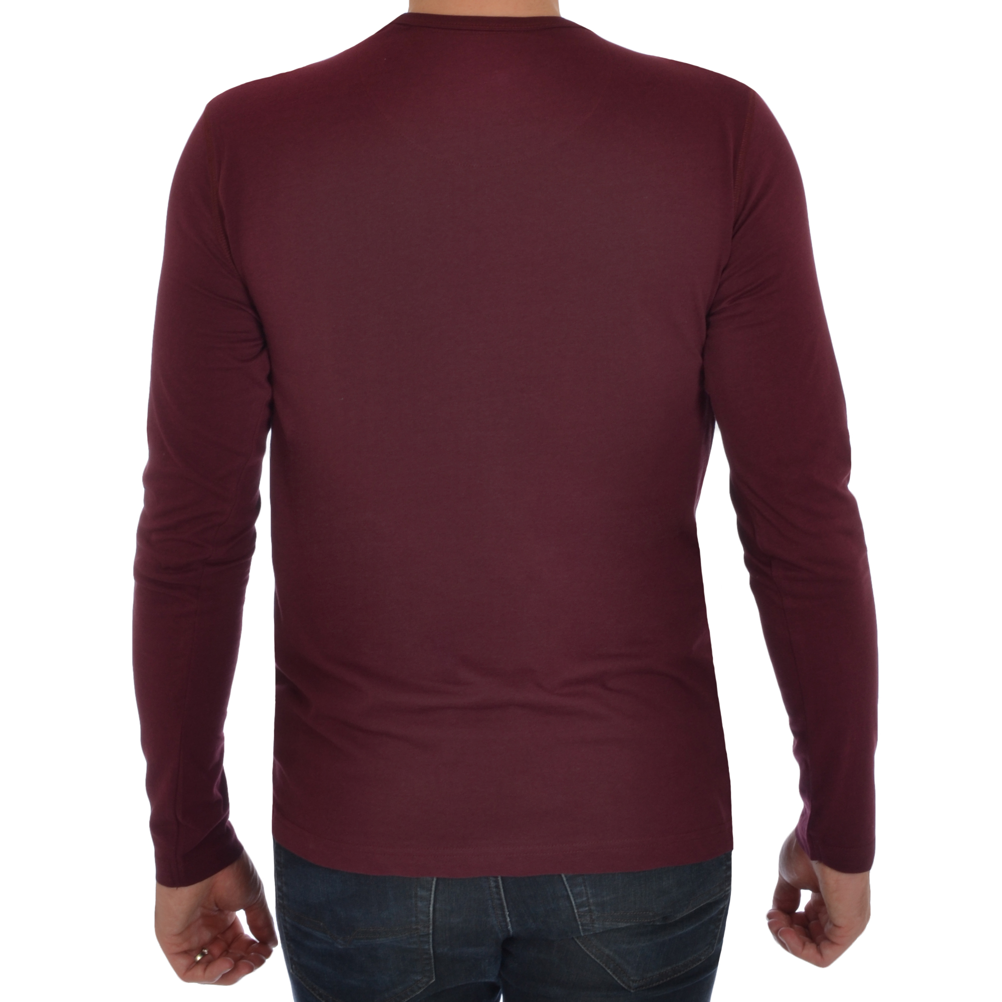 Brave Soul Mens Long Sleeve T-shirt Plain Crew Neck Casual Top L ... f7afbc23a20
