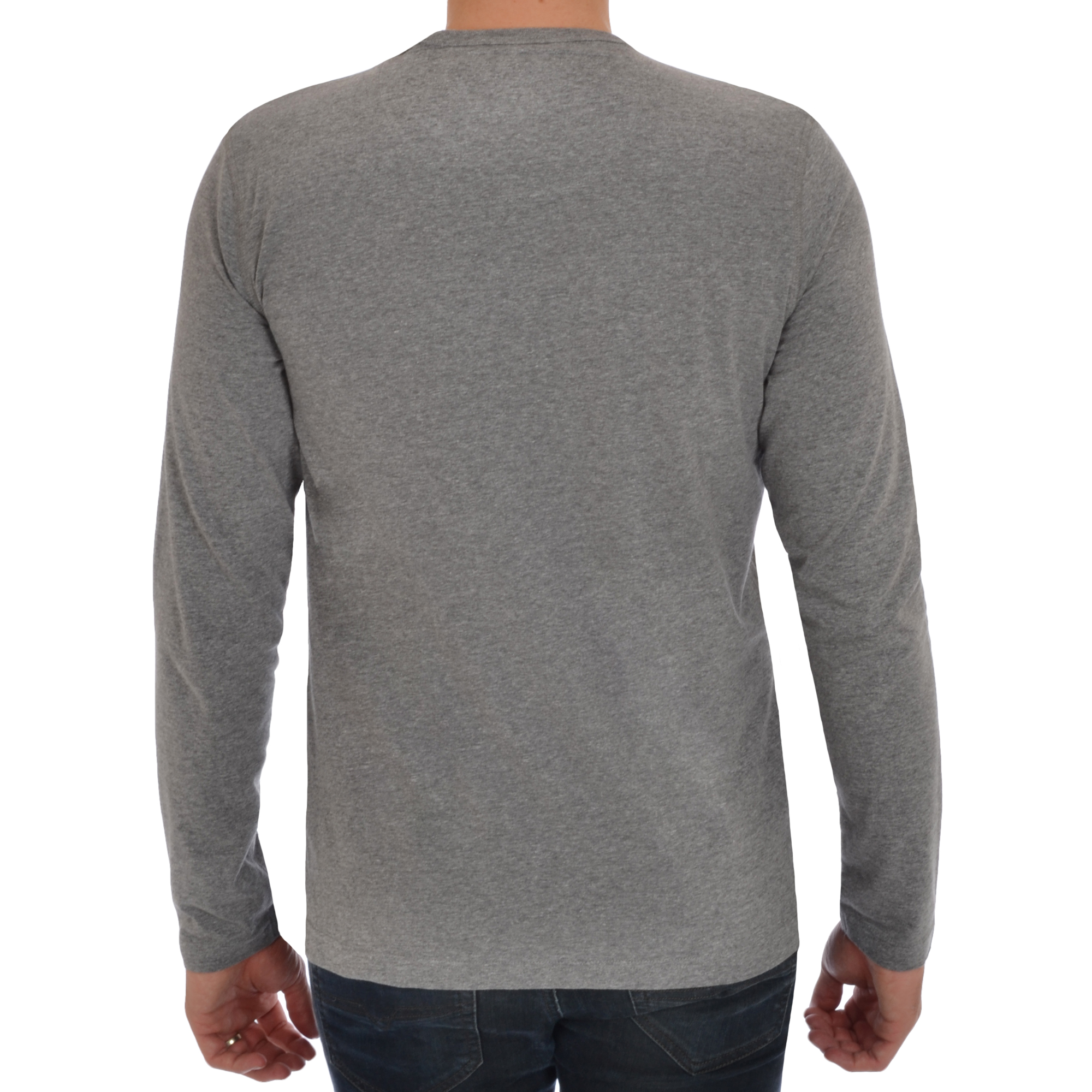 Brave Soul Mens Long Sleeve T-Shirt Plain Crew Neck Casual Top | eBay