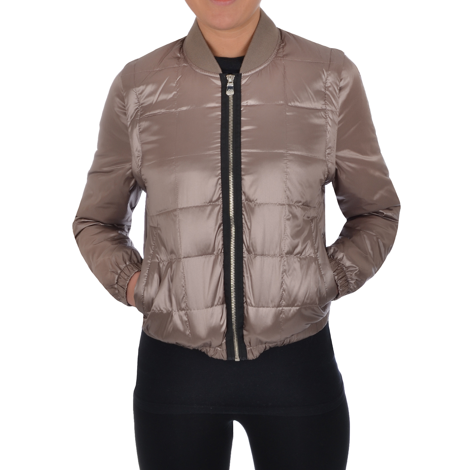 Puffa Womens Quilted Bomber Jacket Lightweight Padded Bodywarmer