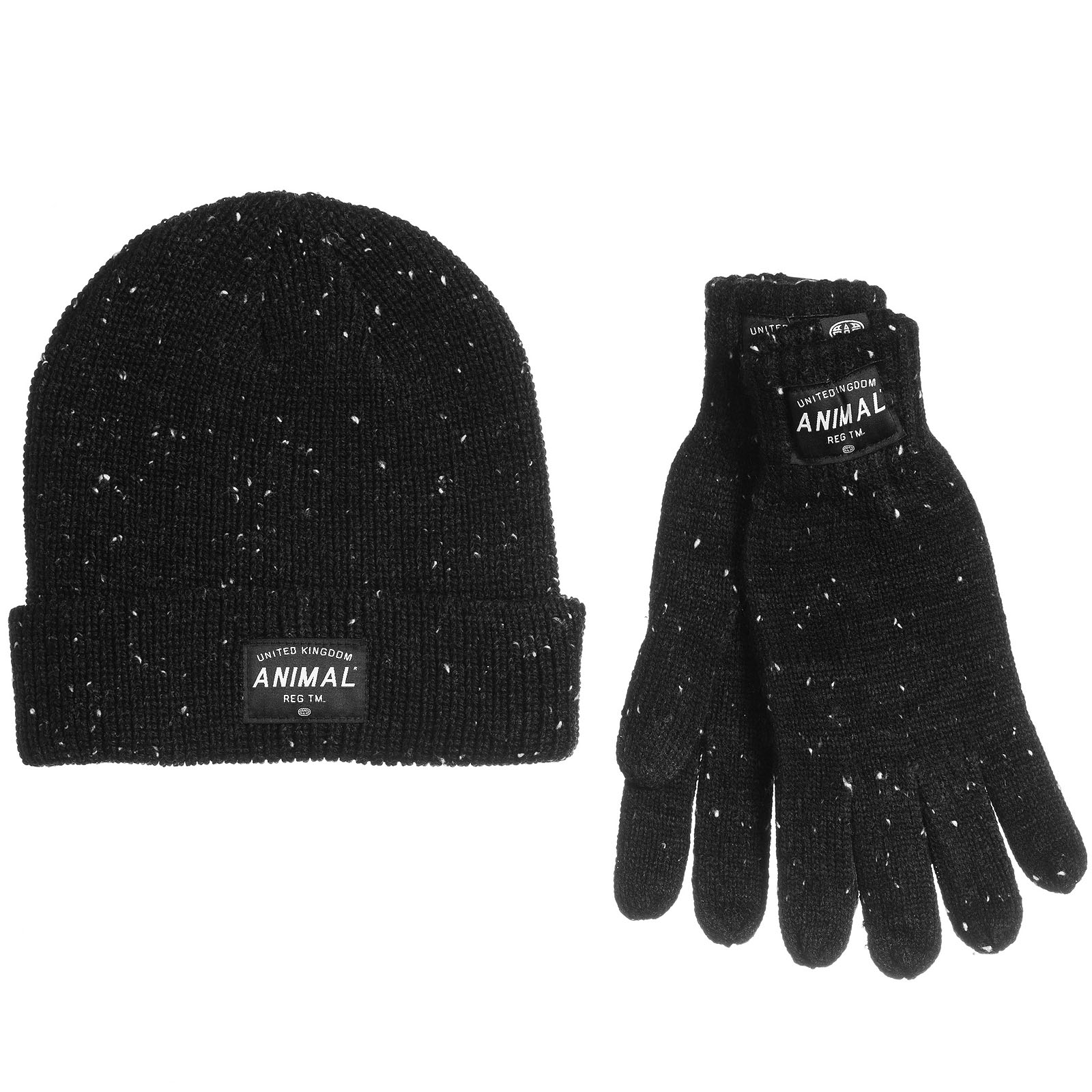 Details about Animal Mens Falcann Allex Winter Knitted Hat And Gloves Set -  Black - OS 9718524ab67d