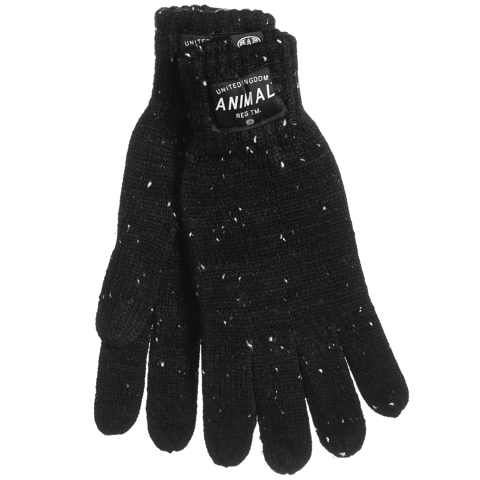 Animal Mens Falcann Allex Winter Knitted Hat And Gloves Set - Black ... c2bfa170d654