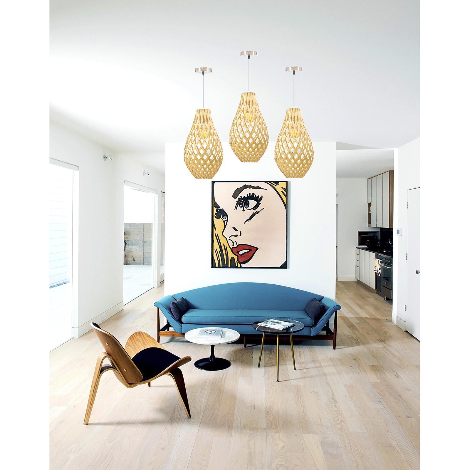Wooden Handmade Pendant Light Natural Nordic Modern