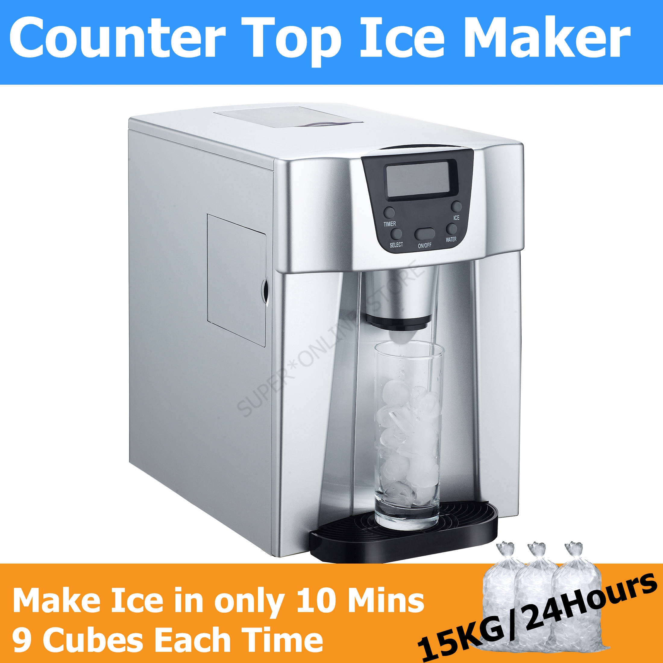 NEW Countertop Portable Ice Maker Machine Restaurant Cafe Bar Home ...