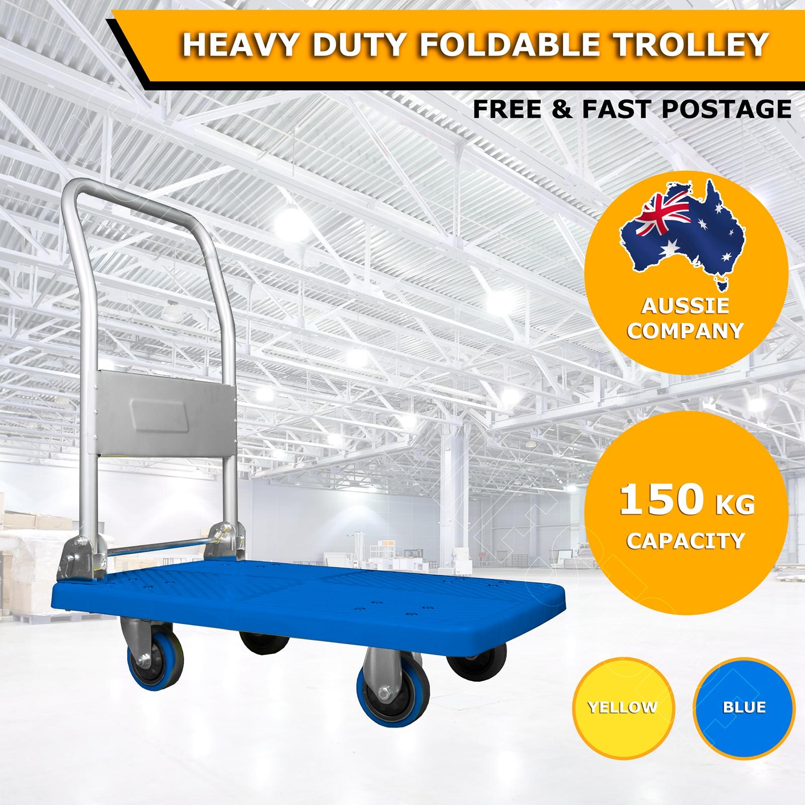 200-150-KG-Folding-Iron-Heavy-Duty-Platform-Trolley-Hand-Truck-Foldable-Cart