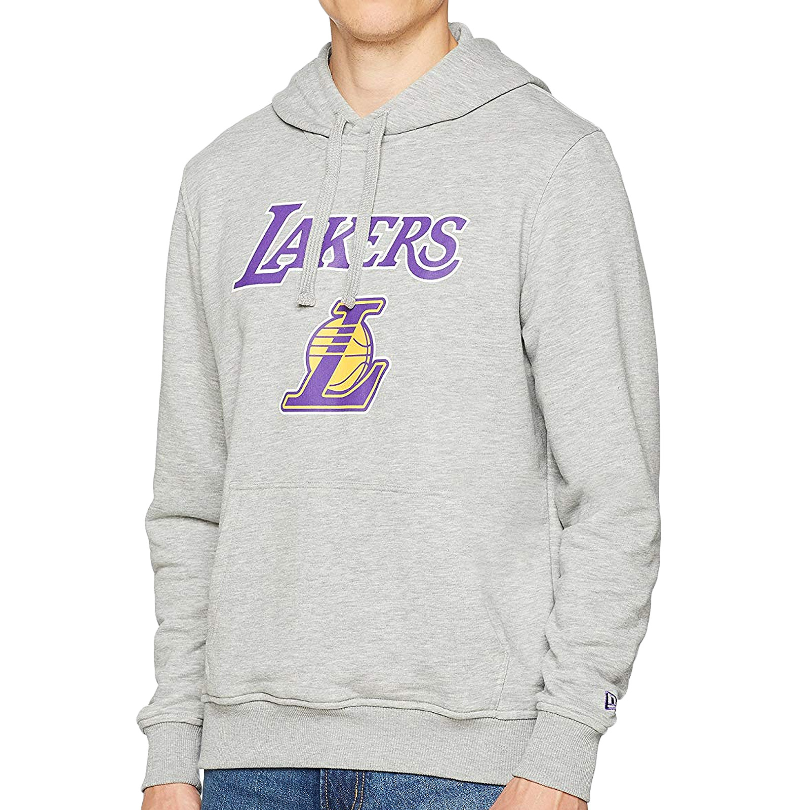 info for c6091 a4e59 Details about New Era Mens NBA Basketball LA Lakers Pullover Hoody Hoodie  Jumper - Grey - S