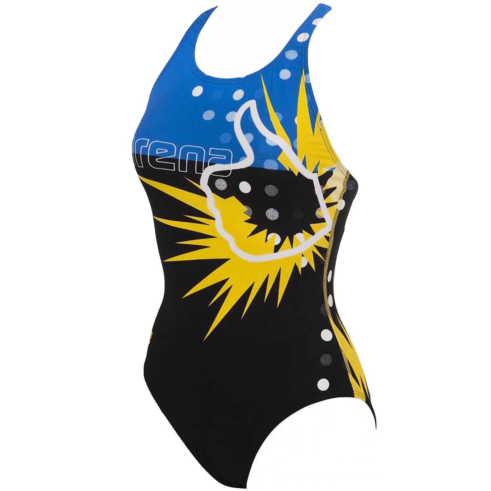 Firetrap di marca Swim Costume Da Bagno Costume Da Spiaggia Donna un pezzo NERO