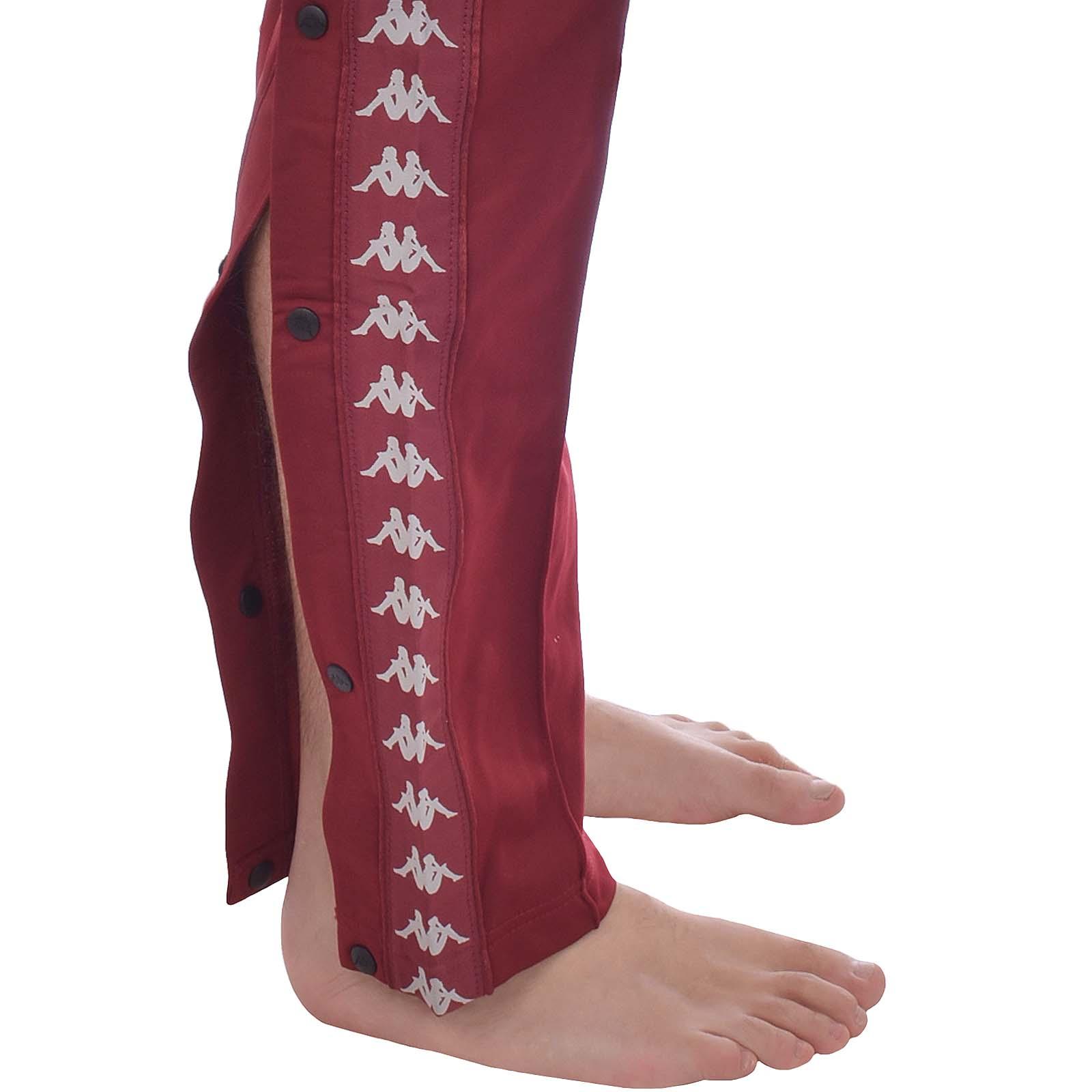 Detalles de 222 para hombre Kappa BANDA ASTORIA broches de presión ajustado Casual Retro poppers Chándal Pantalones ver título original
