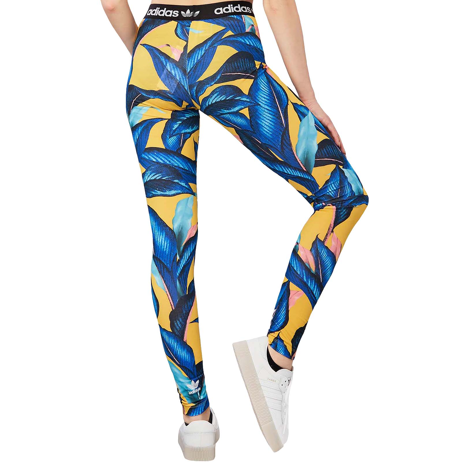 adidas Originals Women's Farm Leggings, BlueYellow, XS