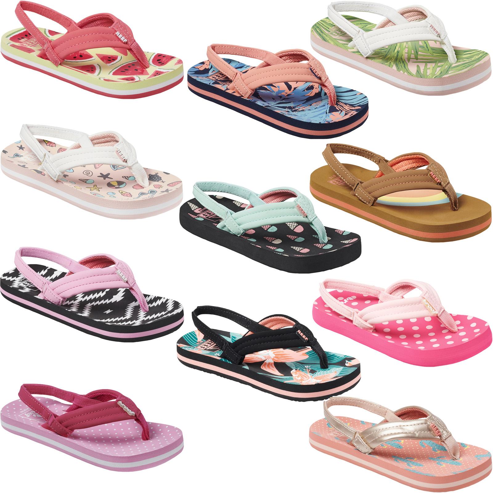 Reef Kids Girls Little AHI Convertible Rainbow Activity Sandals Size
