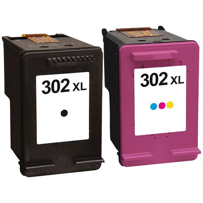 HP 302XL ( F6U68AE / F6U67AE ) Compatible Black and Colour Ink Cartridge Pack