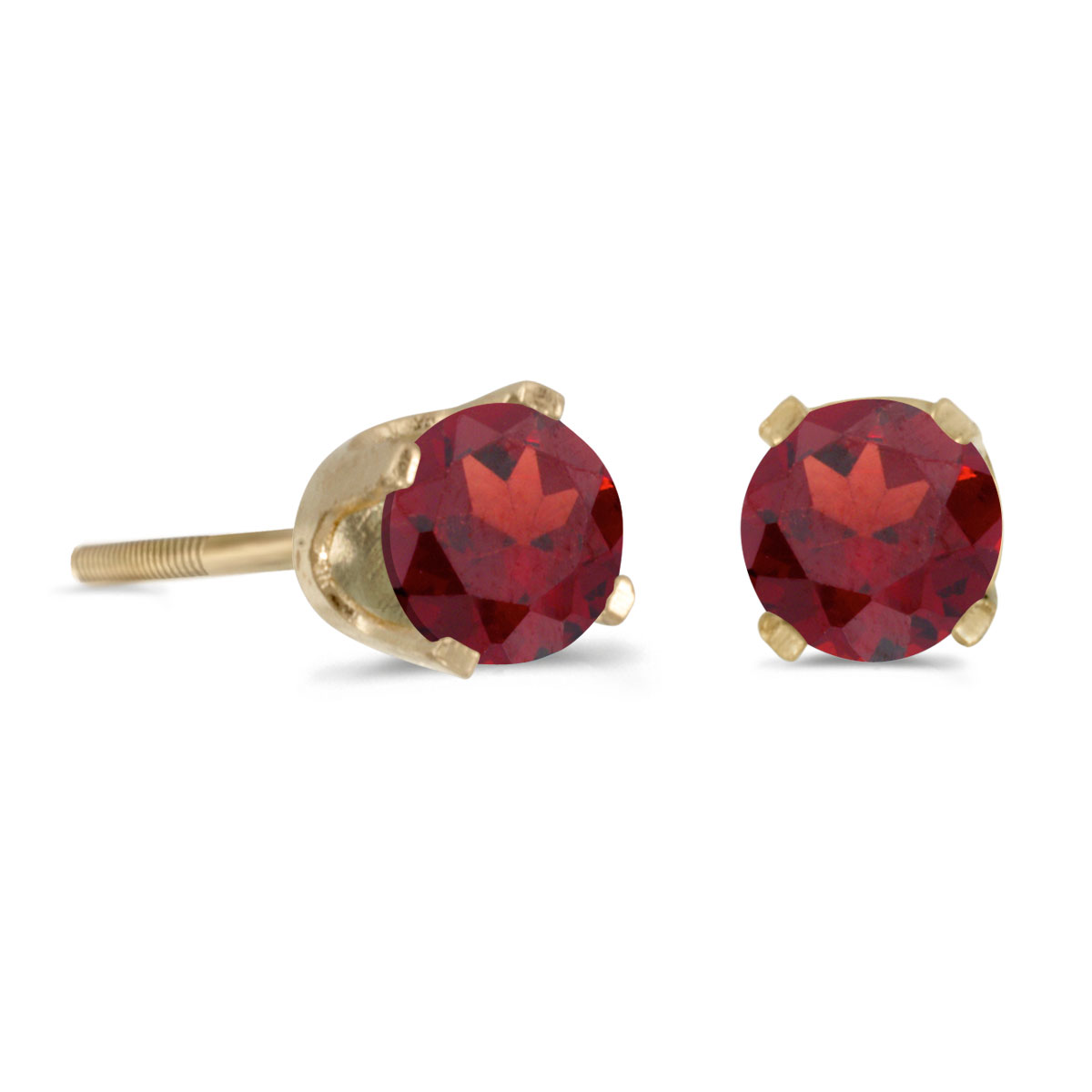 4mm Pink Garnet Screw Back Studs White Gold or Yellow Gold Screwbacks Platinum or 14k Gold Screw Back Earrings with Rhodolite Garnet