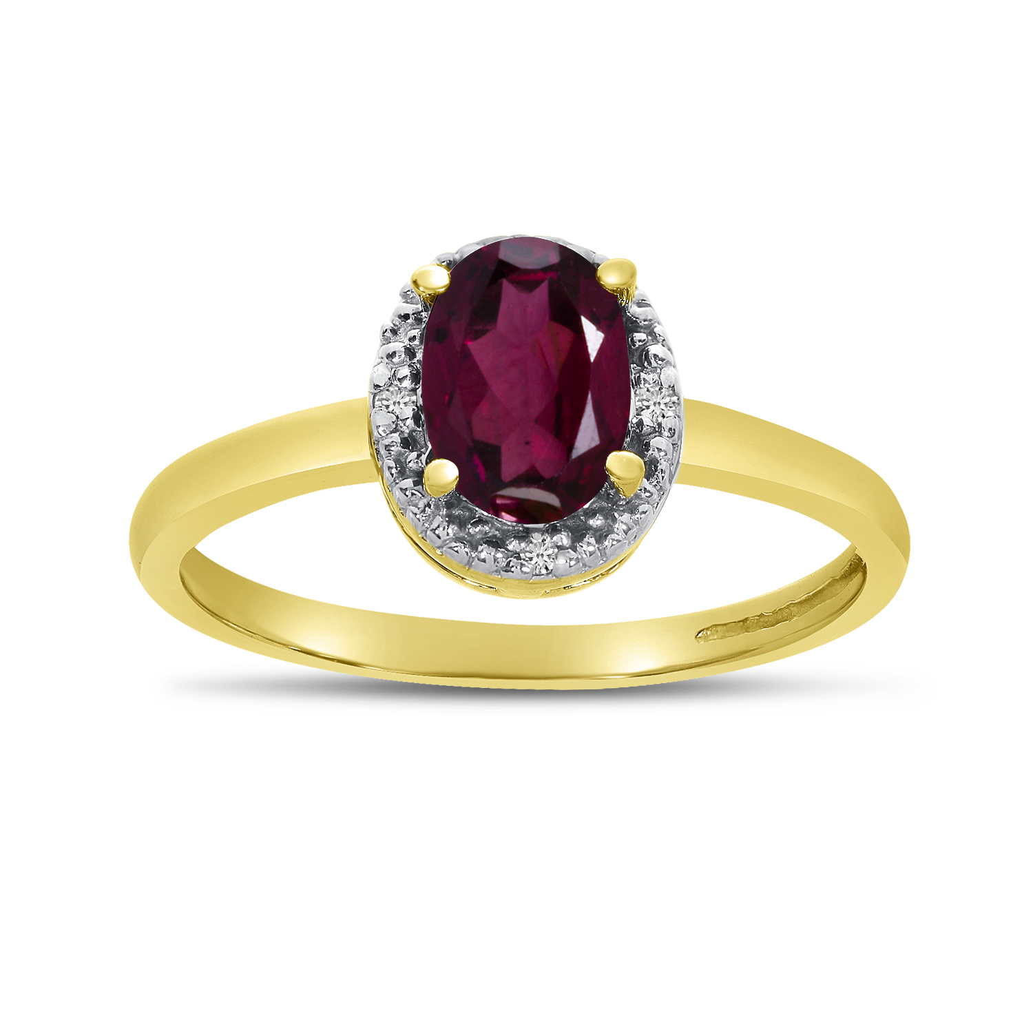 Details about  /14k White Gold Oval Rhodolite Garnet And Diamond Ring