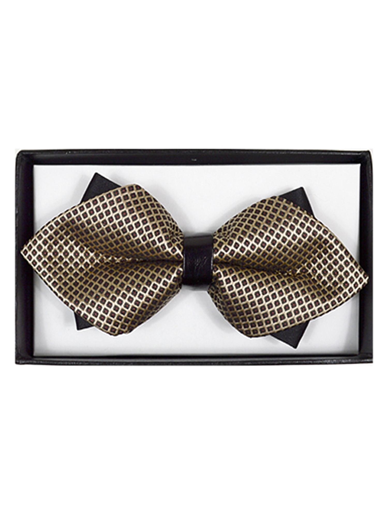 Men/'s Pink Geometric Diamond Tip Bow Tie DBB3030-2