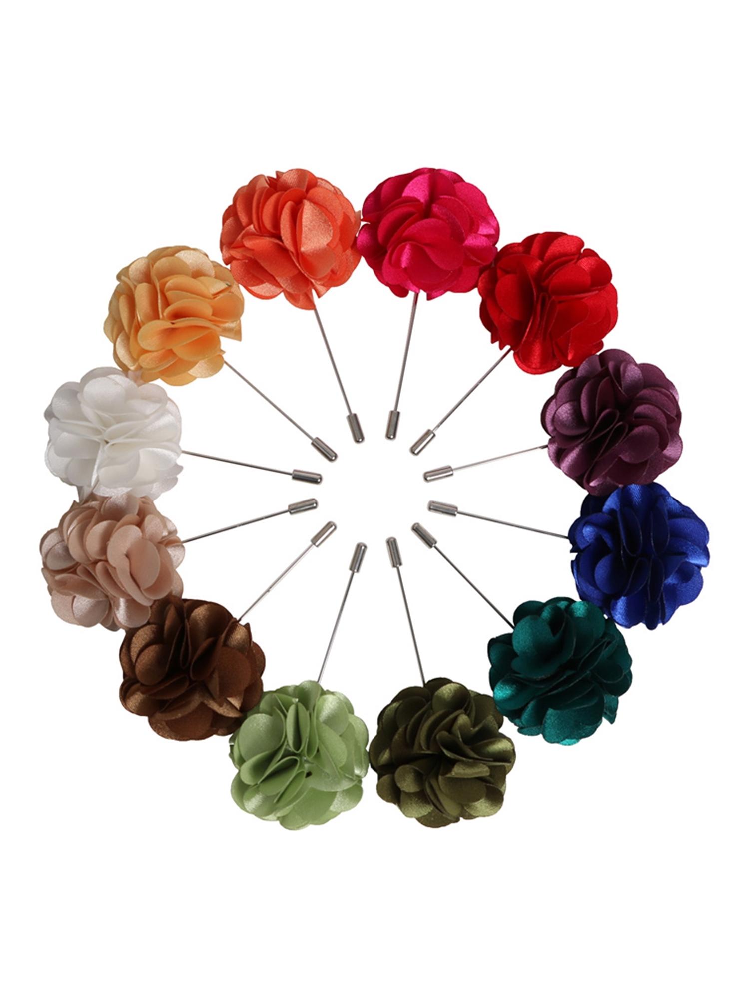 Mens Flower Lapel Pin Boutonniere For Suit Ebay
