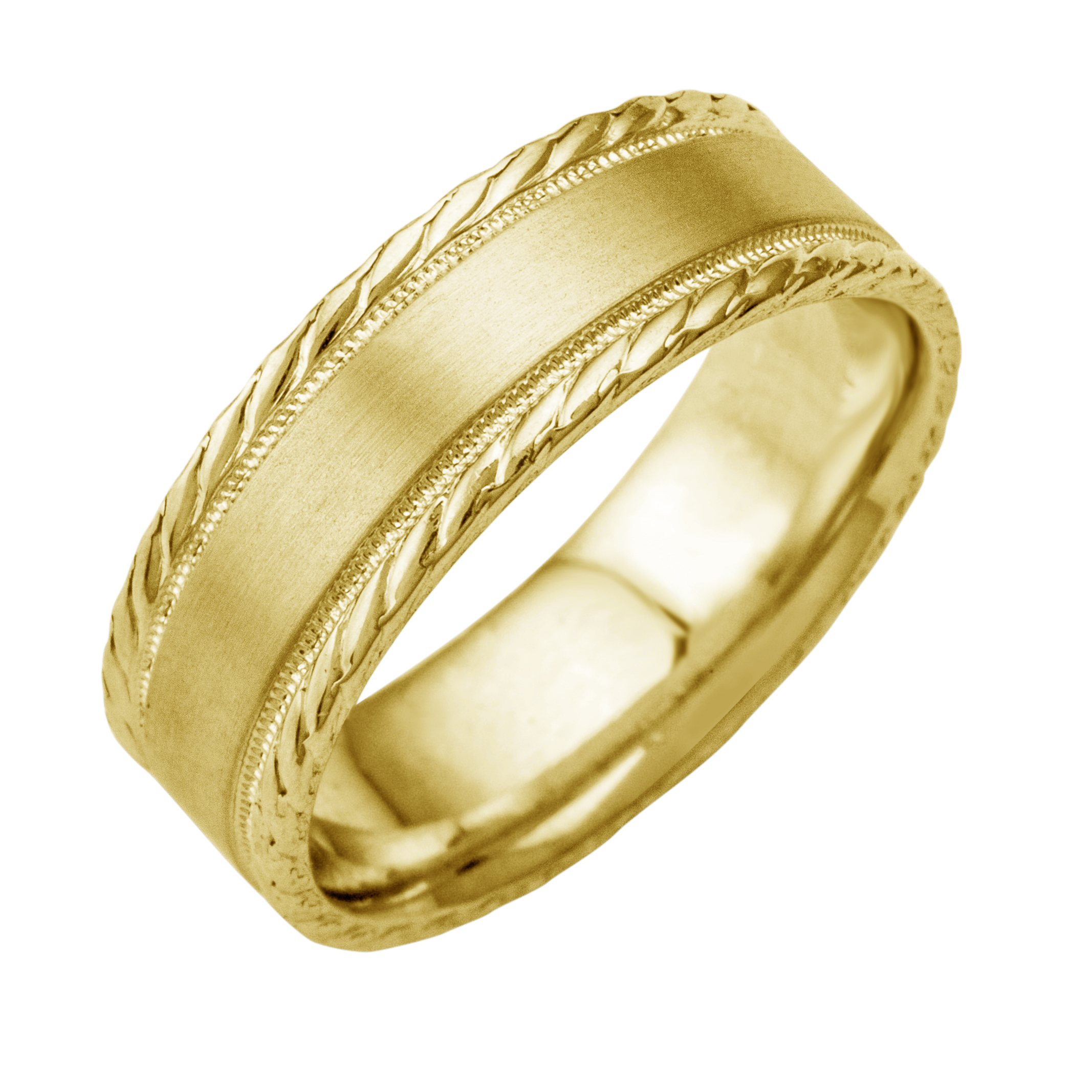 gold wedding ring yellow fit solid itm band menwomen comfort bands