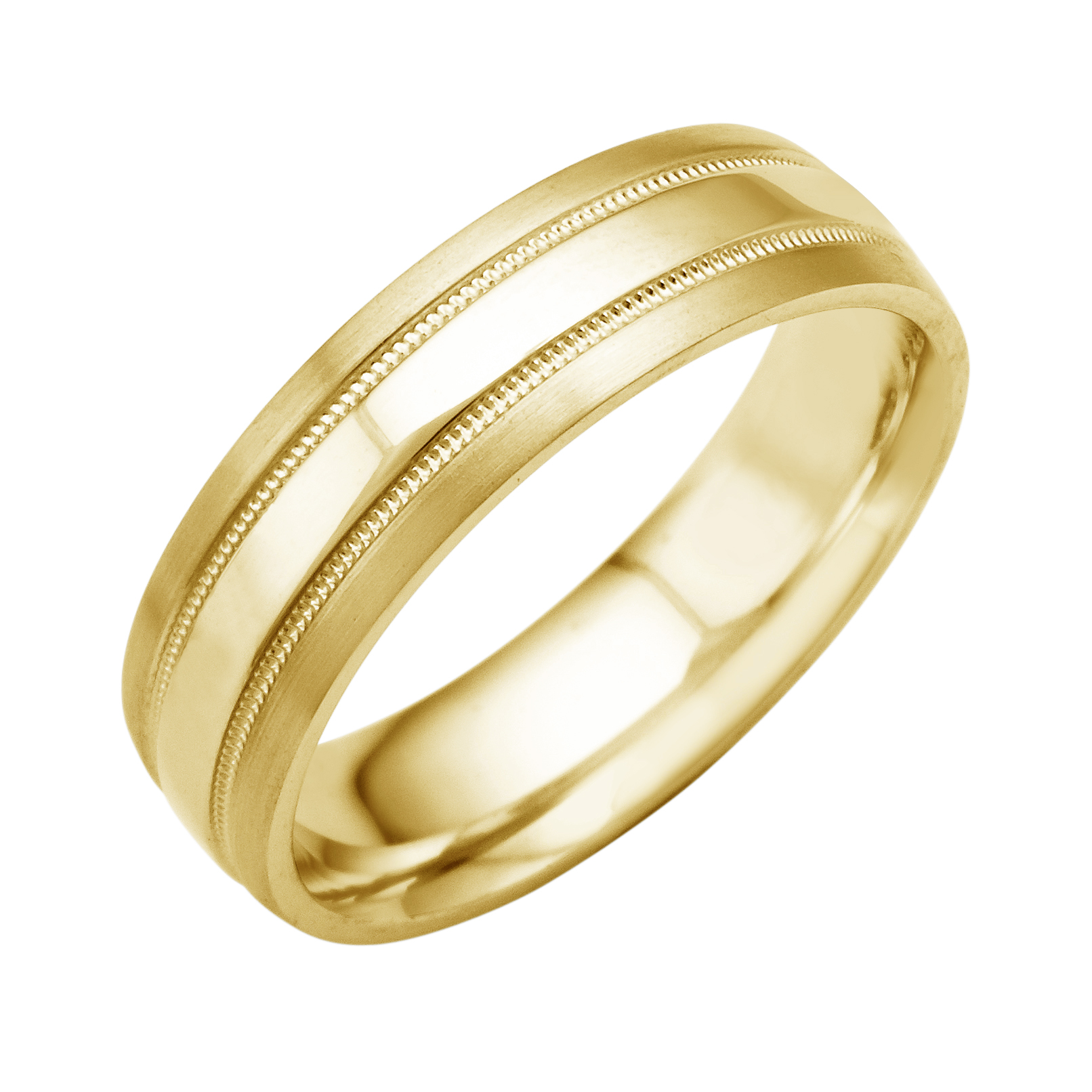 14K 18K White Or Yellow Gold Double Milgrain