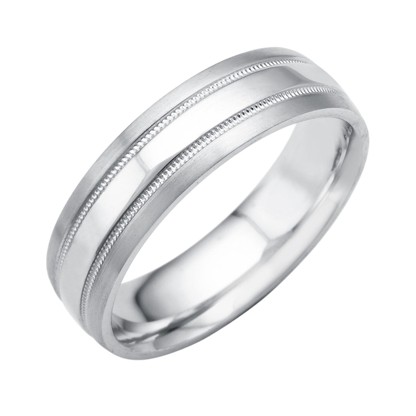 platinum hammered bands milgrain wedding band mens
