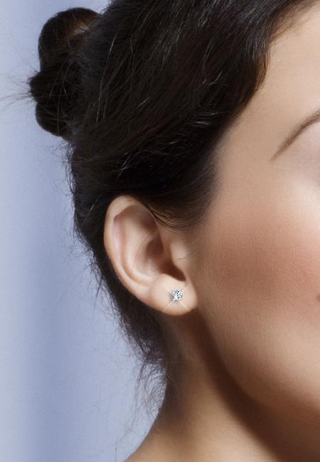 Platinum 1 4ctw Princess cut Diamond 4-Prong Stud Earrings (G-H 787757ba884d