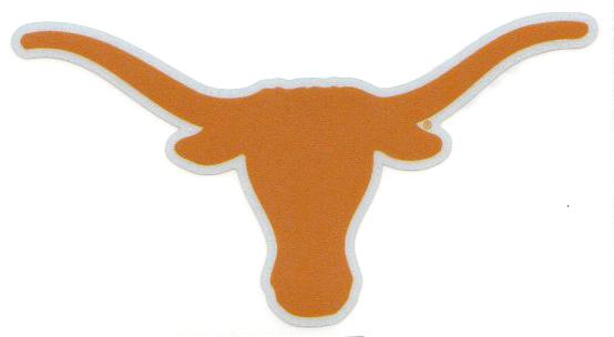 Texas Longhorns Reflective Longhorn Logo 6 Quot Vinyl Decal