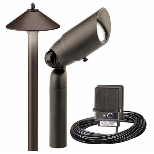 New Malibu 10 Pc Kit Low Voltage Pro Landscape Light Set