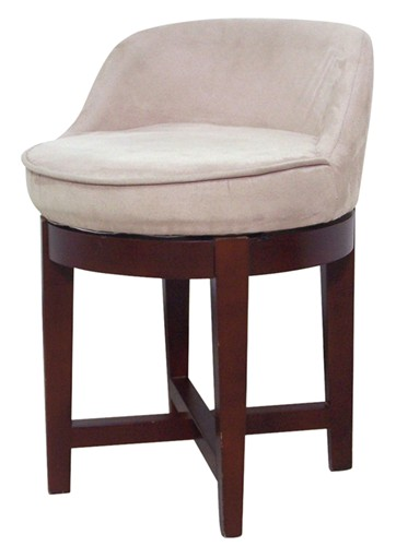 new bathroom vanity swivel chair stool low profile padded. Black Bedroom Furniture Sets. Home Design Ideas
