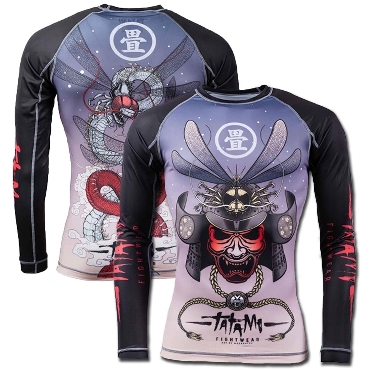 Tatami X Meerkatsu Dragonfly V2 MMA BJJ Jiu Jitsu Long Sleeve LS Rashguard