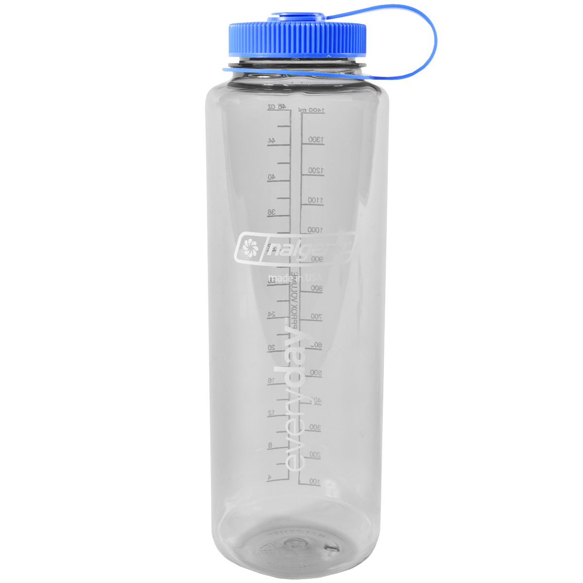 827cac59a6 Details about Nalgene Silo Tritan Wide Mouth Water Bottle - 48 oz. -  Gray/Blue