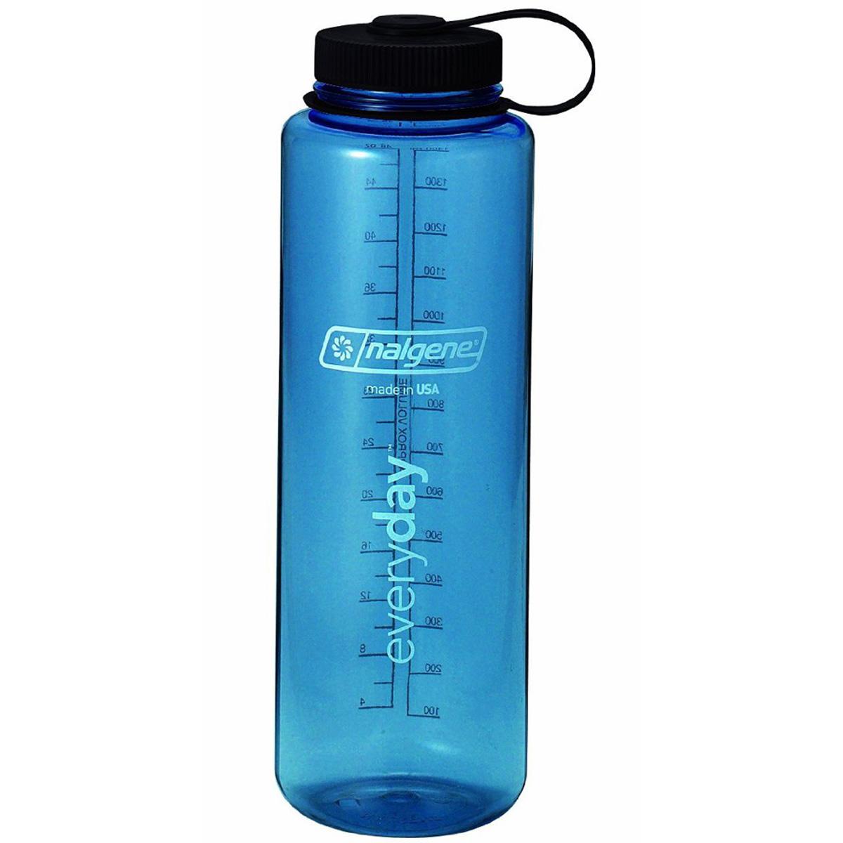 25b89d14f7 Details about Nalgene Tritan Wide Mouth Water Bottle - 48 oz. - Blue/Black