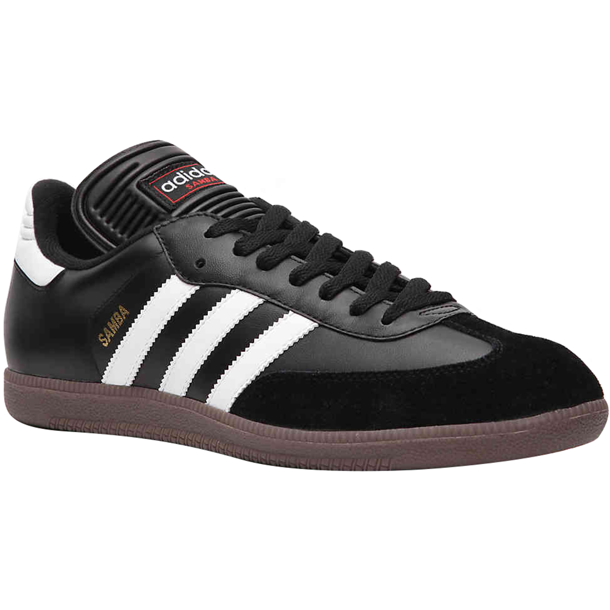 san francisco special sales classic fit Details about Adidas Samba Classic Leather Indoor Soccer Shoes -  Black/White/Gum