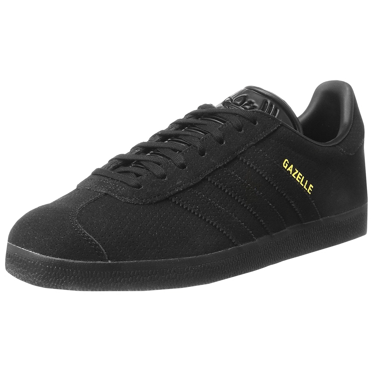 the best attitude 7b743 7fa42 Details about Adidas Originals Gazelle OrthoLite Suede Casual Shoes - Black  Black