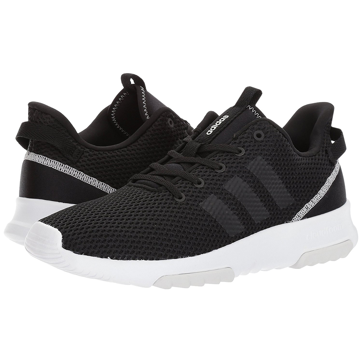 f58917f0d3f Adidas Women s Neo CloudFoam Racer Trail Running Shoes - Black White ...