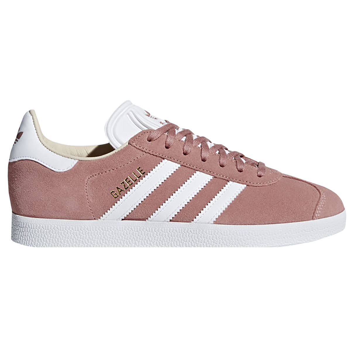 Adidas Women's Gazelle OrthoLite Suede Casual Shoes - 7 - Ash Pearl  Pink/White