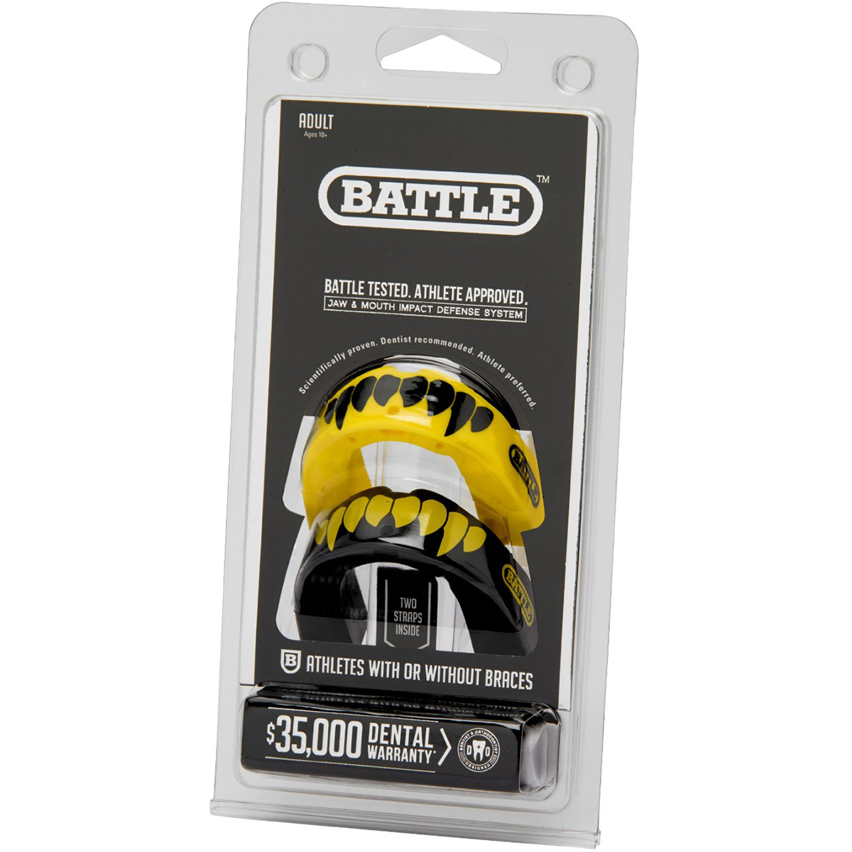 Battle-Sports-Science-Adult-Fang-Mouthguard-2-Pack-with-Straps thumbnail 10