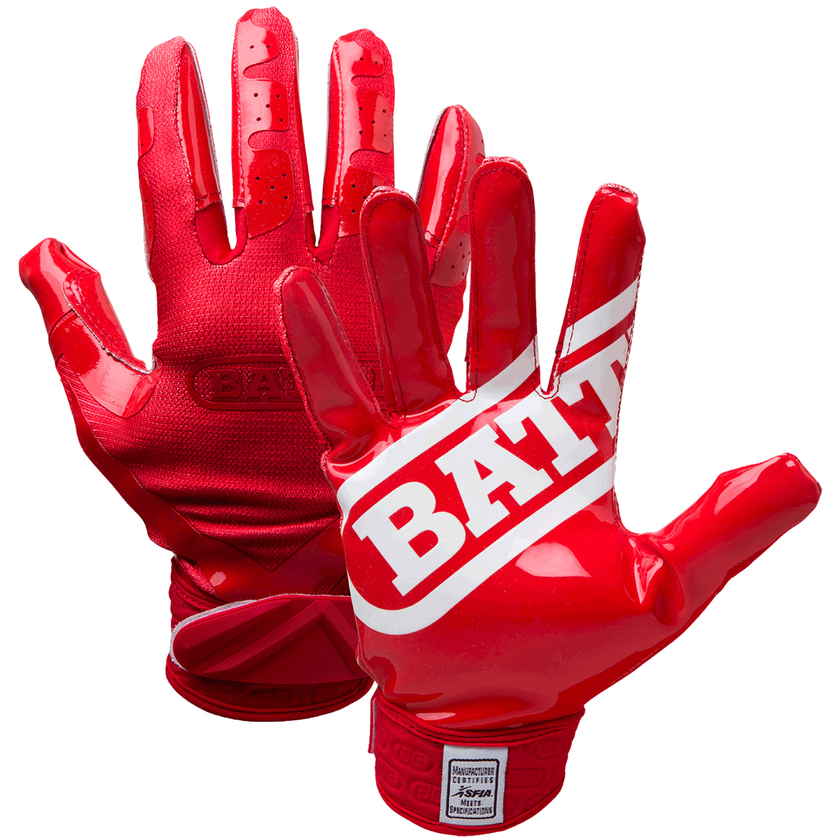 Battle Sports Science Doublethreat Ultratack Football Gloves Red
