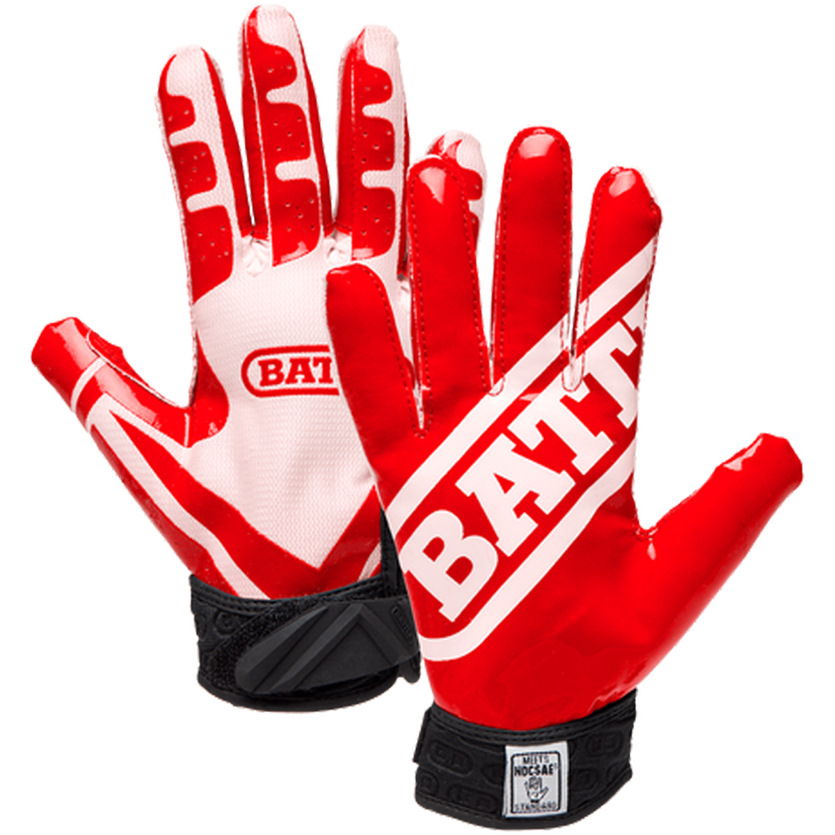 Details about Battle Sports Science Receivers Ultra-Stick Football Gloves -  Red White c38904b1c6b7