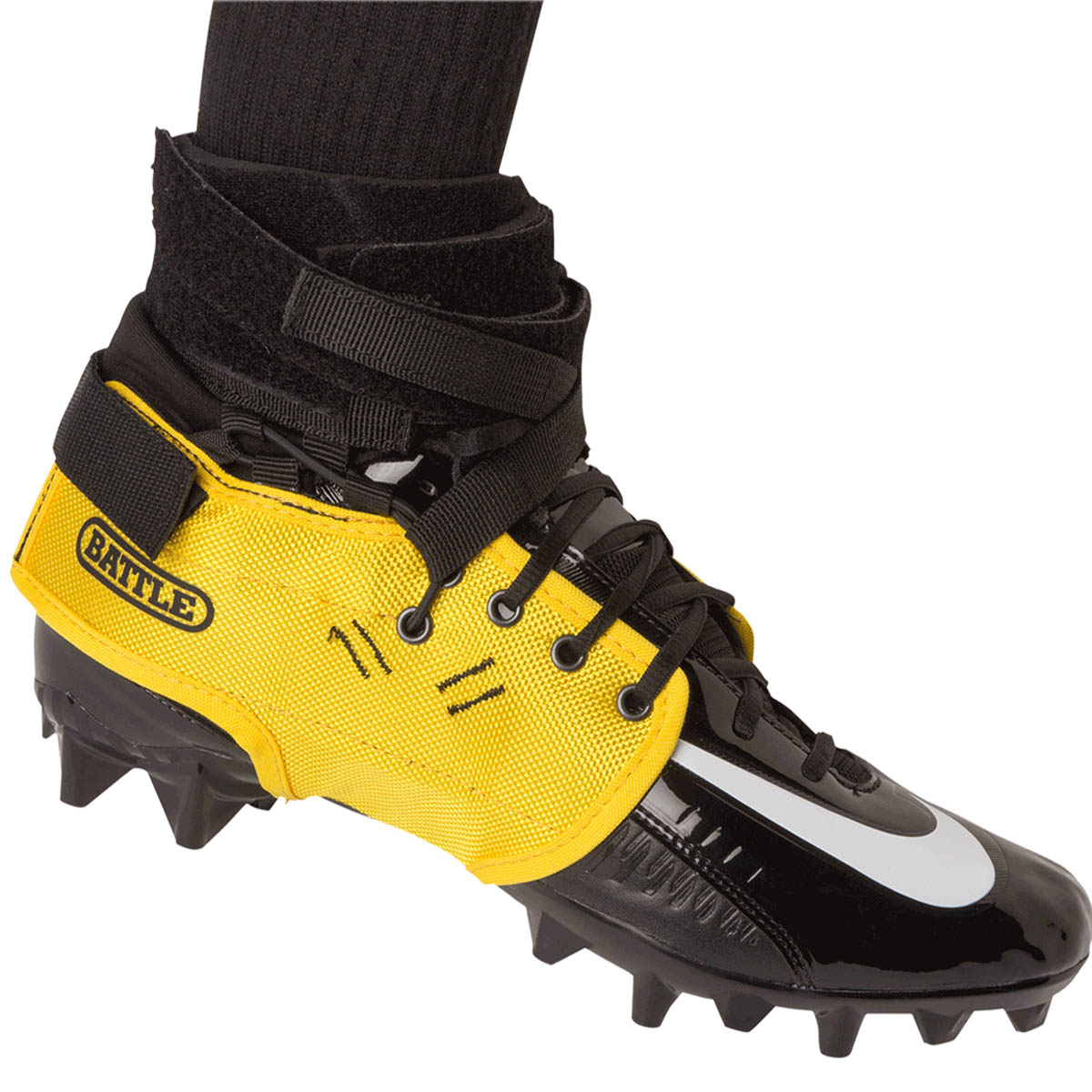 484cd27ac Details about Battle Sports Science XFAST Over the Cleat Ankle Support  System - Yellow