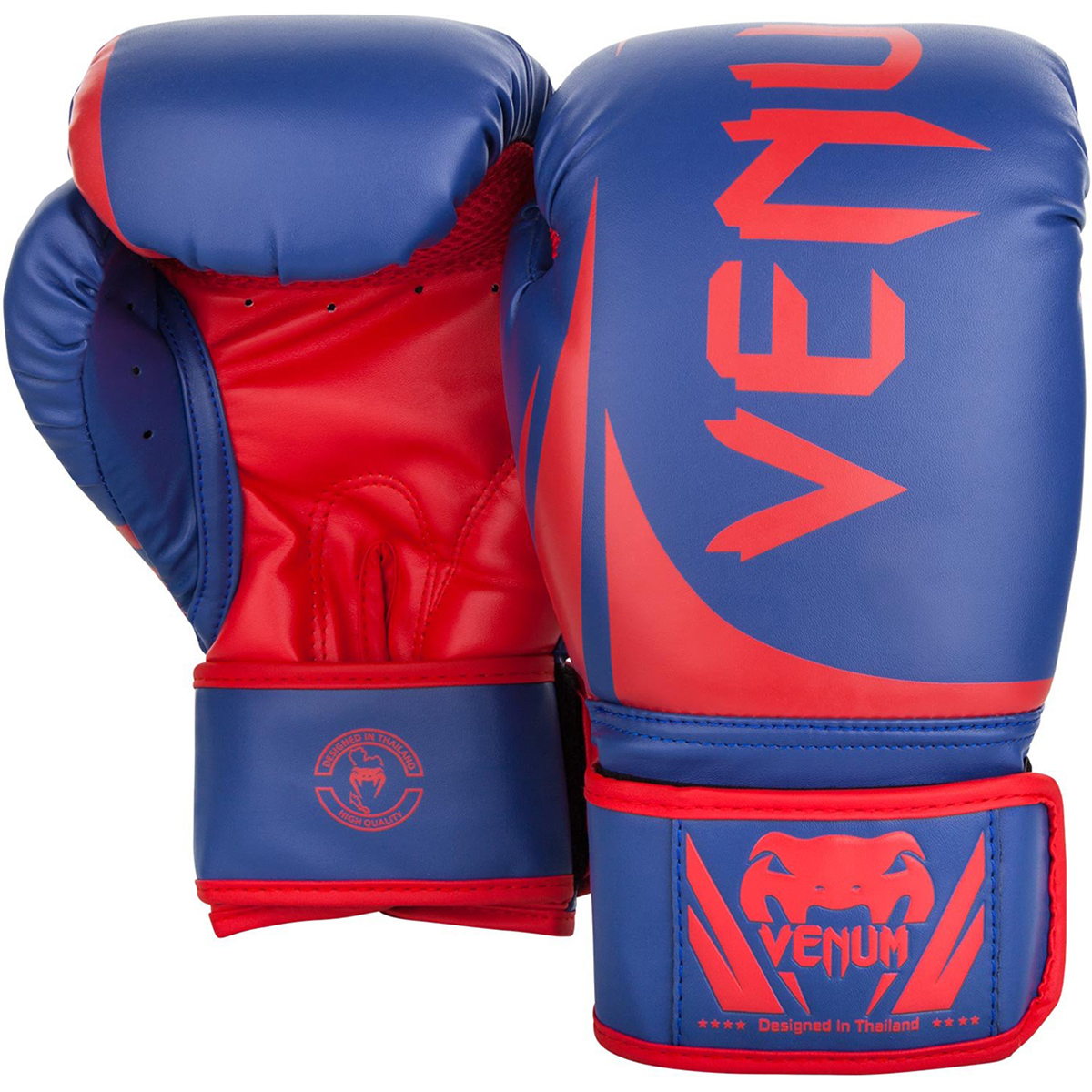 Blue//Red Venum Challenger 2.0 Hook and Loop MMA Training Boxing Gloves
