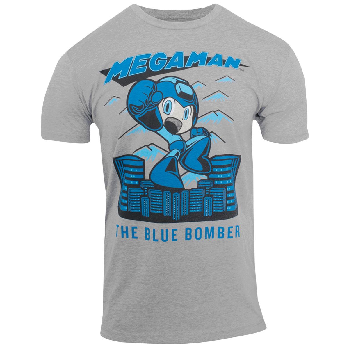 Mega Man Capcom Video Game The Blue Bomber Adult T Shirt