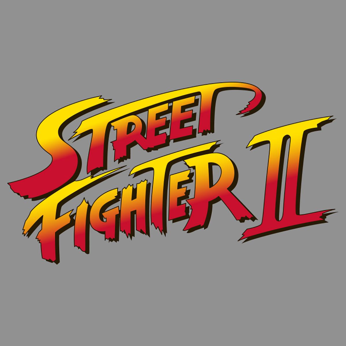 Capcom Women S Street Fighter Ii Logo Tank Top Premium Heather