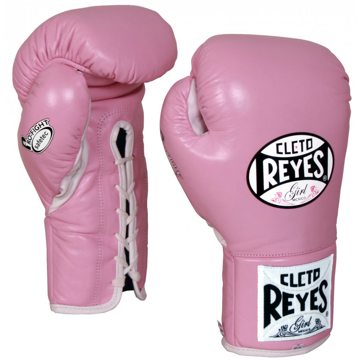 Fighter girls Boxing Gloves Pink Lace Up