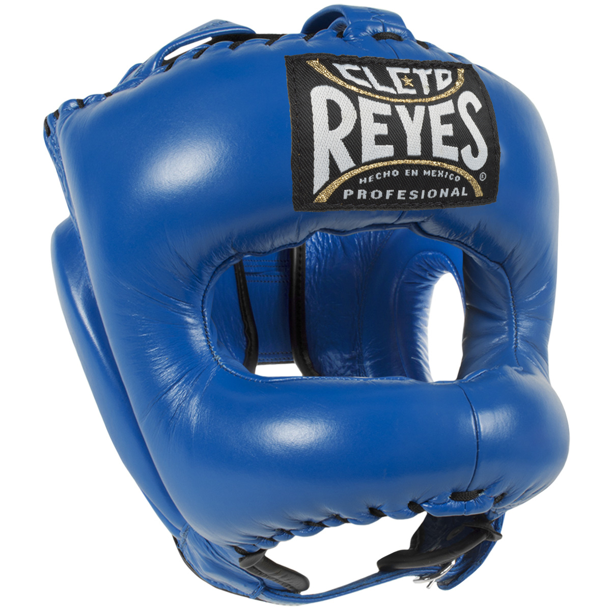 Cleto Reyes Traditional Leather Boxing Headgear with Nylon Face Bar Titanium